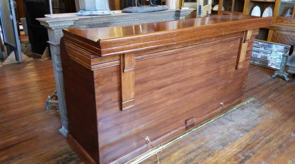Restored Mahogany Bar From A Small Resort In Northern Mn. Cuban Mahogany  Bar Top And A Restored Mahogany Front Bar. Restored And Refinished W/ A  Newer Brass ...
